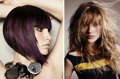 Tagli particolari su capelli lunghi